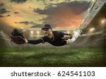 baseball players in action on... | Shutterstock . vector #624541103
