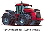 heavy tractor. cartoon... | Shutterstock .eps vector #624549587