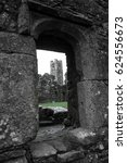Small photo of Ruins of the Slane Abbey.Ireland.