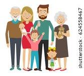 family together. grandpa... | Shutterstock .eps vector #624558467