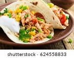 homemade slow cooker chicken... | Shutterstock . vector #624558833
