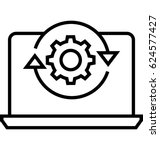data processing vector icon | Shutterstock .eps vector #624577427