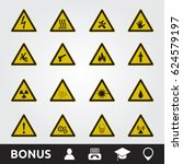 caution warning signs | Shutterstock .eps vector #624579197