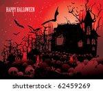 halloween scary scene vector