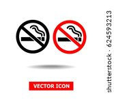 no smoking sign isolated on... | Shutterstock .eps vector #624593213