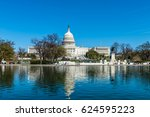 reflections in the reflecting... | Shutterstock . vector #624595223