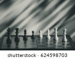 chess background central figure.... | Shutterstock . vector #624598703