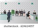 reception office people | Shutterstock .eps vector #624614057