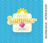 vector summer sale bright label ... | Shutterstock .eps vector #624616163