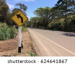Small photo of Yellow Ahead of the curve sign