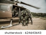 military transport helicopters  ... | Shutterstock . vector #624643643