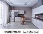 interior design modern kitchen... | Shutterstock . vector #624659663