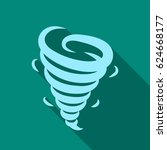 tornado icon in flate style... | Shutterstock .eps vector #624668177