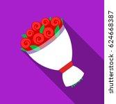 wedding bouquet icon of vector... | Shutterstock .eps vector #624668387