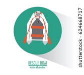 boat nautical transportation... | Shutterstock .eps vector #624668717