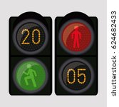 semaphore trafficlight sign... | Shutterstock .eps vector #624682433