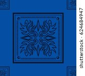 pattern of vintage and blue... | Shutterstock .eps vector #624684947