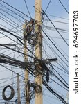 Small photo of Power poles and power lines