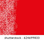 abstract geometric white red... | Shutterstock .eps vector #624699833