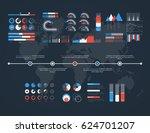 timeline vector infographic....   Shutterstock .eps vector #624701207