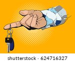 a man's hand in a checkered... | Shutterstock .eps vector #624716327