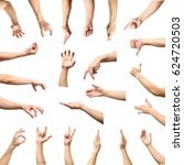 male hand gesture and sign... | Shutterstock . vector #624720503