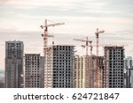 building crane and buildings... | Shutterstock . vector #624721847