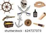 pirate icons   vector set | Shutterstock .eps vector #624727373