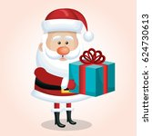 santa claus christmas isolated | Shutterstock .eps vector #624730613