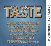 vector set of vintage letters ...   Shutterstock .eps vector #624733517