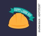 labor day poster. vector... | Shutterstock .eps vector #624735287
