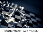 chess board game concept of...   Shutterstock . vector #624740837
