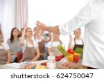 Male Chef And Group Of People...
