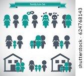 family icons set | Shutterstock .eps vector #624768143