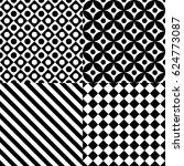 seamless abstract pattern set...   Shutterstock .eps vector #624773087