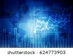 2d rendering stock market... | Shutterstock . vector #624773903