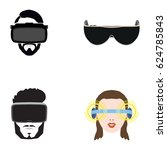 set of different virtual... | Shutterstock .eps vector #624785843