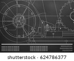 vector drawing. mechanical... | Shutterstock .eps vector #624786377