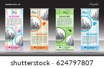 roll up banner template  stand... | Shutterstock .eps vector #624797807