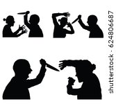 violence in family set with... | Shutterstock .eps vector #624806687