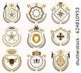 set of luxury heraldic... | Shutterstock . vector #624810953