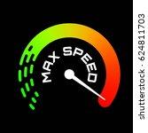 speedometer logo. max speed... | Shutterstock .eps vector #624811703