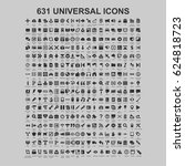 universal set icons | Shutterstock .eps vector #624818723