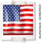 icon design for america flag... | Shutterstock .eps vector #624825023