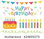 happy birthday  message... | Shutterstock .eps vector #624833273