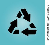 recycle three arrows icon | Shutterstock .eps vector #624838577
