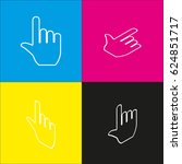 hand sign illustration. vector. ... | Shutterstock .eps vector #624851717