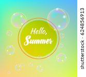 summer template with soap... | Shutterstock .eps vector #624856913