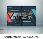 abstract black a4 brochure... | Shutterstock .eps vector #624866393