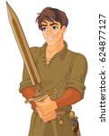 illustration of young king... | Shutterstock .eps vector #624877127